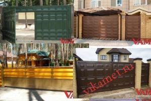 Филенчатые ворота Каскад в городе Сухиничи