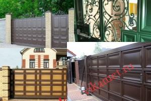 Филенчатые ворота Каскад в городе Суздаль