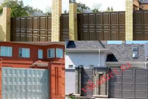 Филенчатые ворота Каскад в городе Свердловск-44