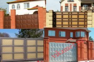 Филенчатые ворота Каскад в городе Светлоград
