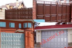 Филенчатые ворота Каскад в городе Тихвин