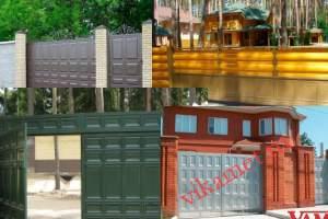 Филенчатые ворота Каскад в городе Томари