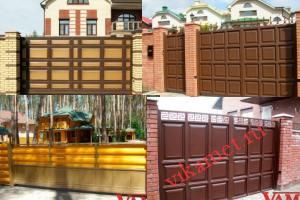 Филенчатые ворота Каскад в городе Торопец