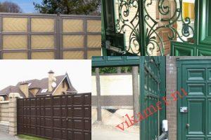 Филенчатые ворота Каскад в городе Троицк