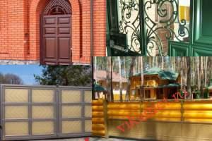Филенчатые ворота Каскад в городе Туран