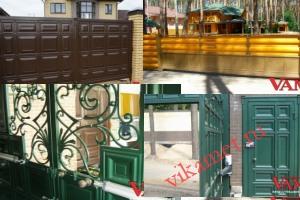 Филенчатые ворота Каскад в городе Тюмень