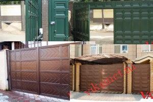 Филенчатые ворота Каскад в городе Удомля