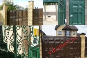 Филенчатые ворота Каскад в городе Улан-Удэ