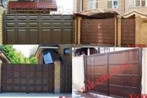 Филенчатые ворота Каскад в городе Усолье