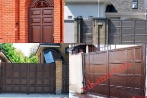 Филенчатые ворота Каскад в городе Валдай