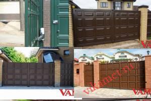 Филенчатые ворота Каскад в городе Вихоревка