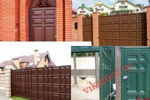 Филенчатые ворота Каскад в городе Вилючинск