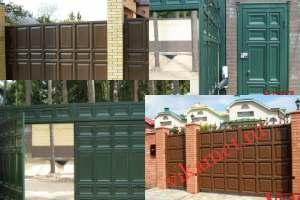 Филенчатые ворота Каскад в Вологодской области