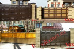 Филенчатые ворота Каскад в городе Воркута