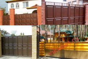 Филенчатые ворота Каскад в городе Выкса