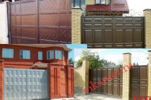 Филенчатые ворота Каскад в городе Яровое