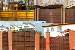 Филенчатые ворота Каскад в городе Юхнов-2