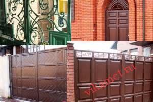 Филенчатые ворота Каскад в городе Юрьевец