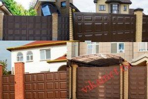 Филенчатые ворота Каскад в городе Юрга