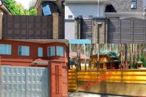 Филенчатые ворота Каскад в городе Юрюзань