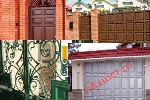 Филенчатые ворота Каскад в городе Завитинск