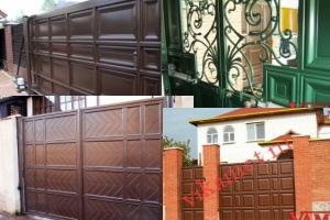 Филенчатые ворота Каскад в городе Заволжье