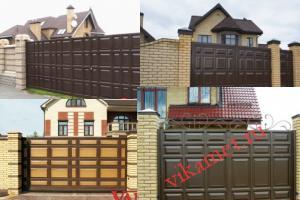 Филенчатые ворота Каскад в городе Зеленогорск
