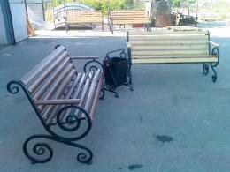 Скамейка Французская лоза с подлокотником