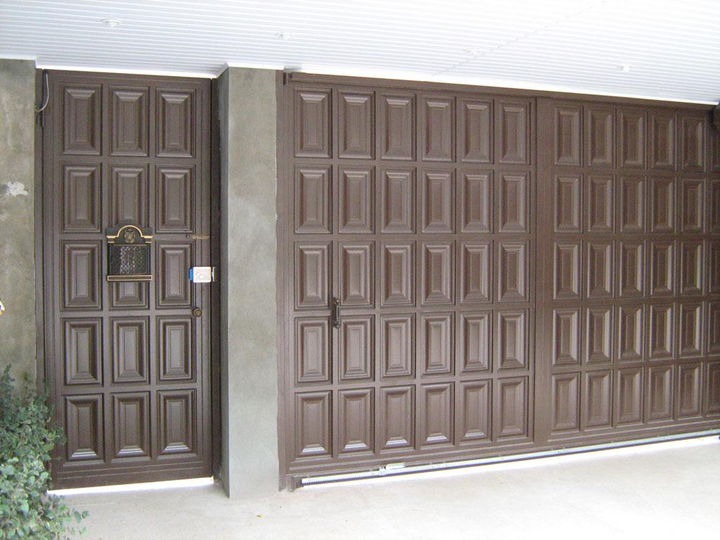 ворота и калитка филенчатые вид изнутри