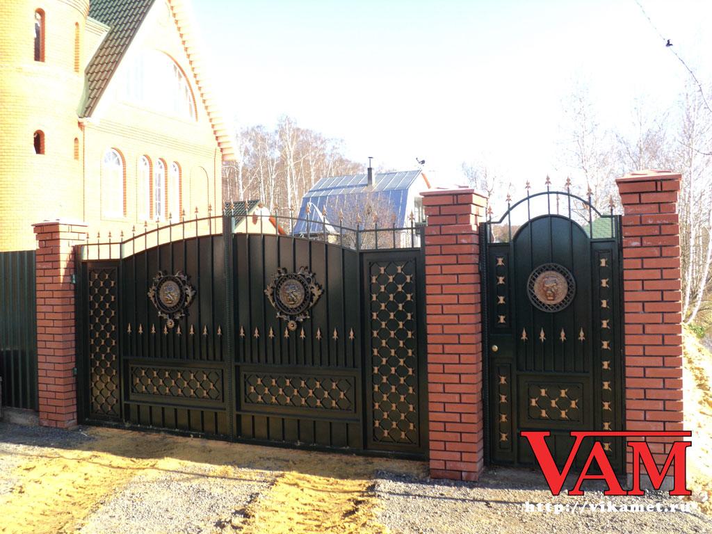 Калитки и ворота г москва фото комплектующие для откатных ворот автоматических