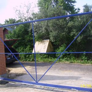 Рама для откатных ворот из профлиста
