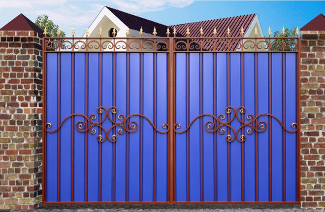 Вороты и заборы своими руками фото