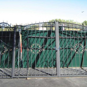Ворота ОСА для дачи с калиткой