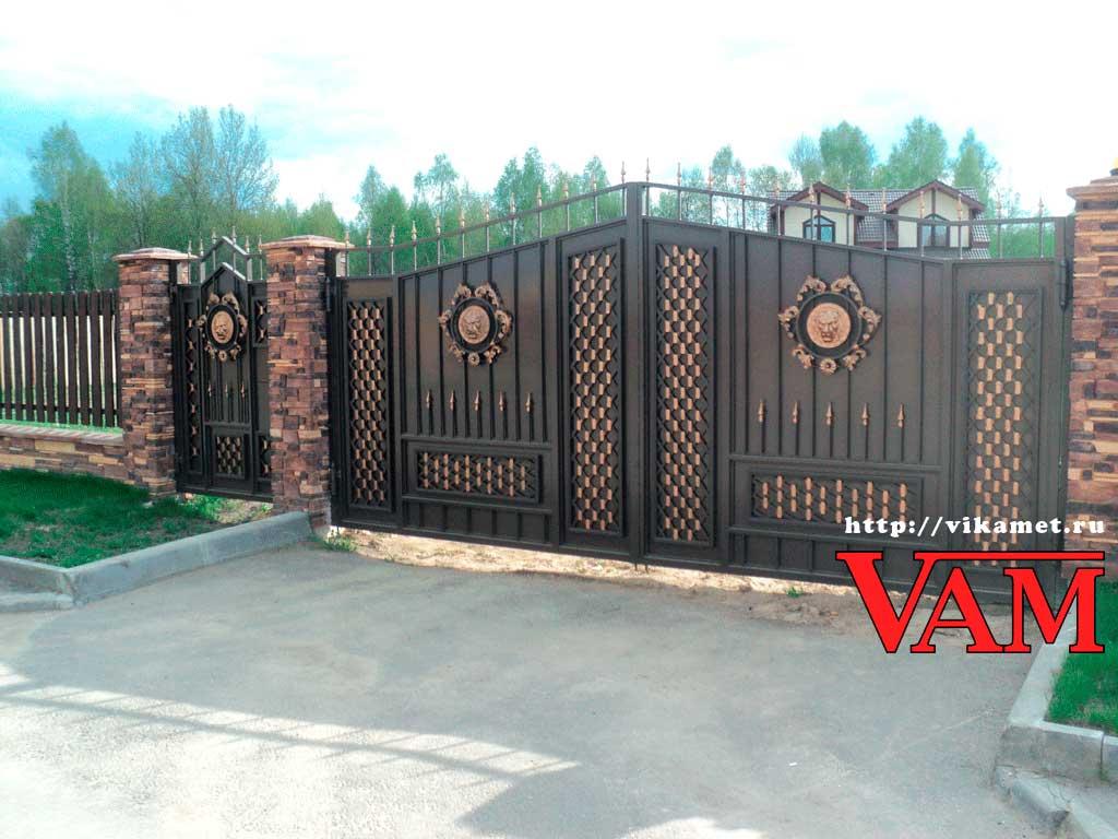 Кованые ворота ВикторияАртМеталл