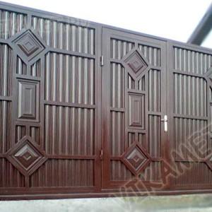 Ворота ВикторияАртМеталл с калиткой