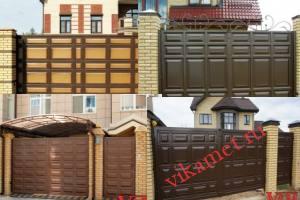Филенчатые ворота Каскад в городе Азов