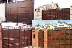 Филенчатые ворота Каскад в городе Батайск