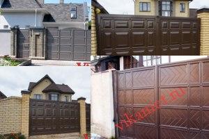 Филенчатые ворота Каскад в городе Белая Калитва