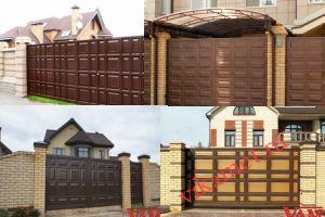Филенчатые ворота Каскад в городе Белореченск