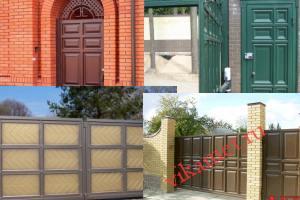 Филенчатые ворота Каскад в городе Бикин