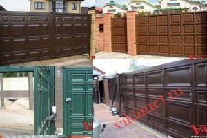 Филенчатые ворота Каскад в городе Билибино