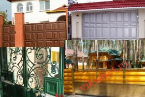 Филенчатые ворота Каскад в городе Биробиджан