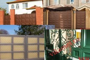 Филенчатые ворота Каскад в городе Бронницы