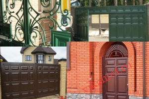 Филенчатые ворота Каскад в городе Чебаркуль