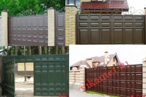 Филенчатые ворота Каскад в Челябинской области