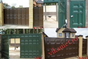 Филенчатые ворота Каскад в городе Черноголовка