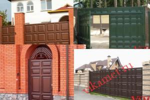 Филенчатые ворота Каскад в городе Чудово