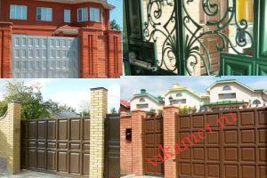 Филенчатые ворота Каскад в городе Дедовск