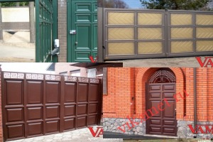 Филенчатые ворота Каскад в городе Ефремов