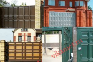 Филенчатые ворота Каскад в городе Егорьевск